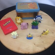 Vintage POKEMON 90's BUNDLE~ Pokedex~Tin Box~Tomy & J.Franco&Sons Figurines