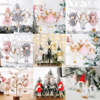 Christmas Ornaments Angel Plush Doll Pendant Xmas Tree Hanging Decoration Party