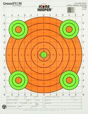 Champion Score Keeper Paper Targets 100 Yd Fluorescent Orange Bull 12/Pack 45796