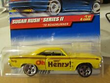 Hot Wheels '70 Plymouth Road Runner Sugar Rush Series II Oh Henry Yellow