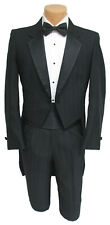 Men's Black Raffinati Tuxedo Tailcoat with Pants Formal Mason Groom 34 Short