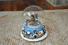 Vintage Musical Christmas Snow Globe: Deck the Halls