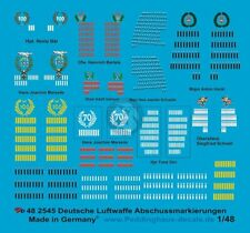 Peddinghaus 1/48 German Luftwaffe Fighter Aces Kill Markings WWII [Decal] 2545