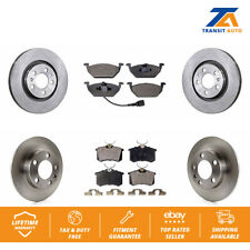 Front Rear Disc Rotors & Ceramic Brake Pad Fit Volkswagen Jetta Golf Beetle City