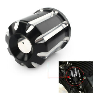 Motor CNC Cut Oil Filter Cover Cap Trim For Harley Touring Street Electra Glide