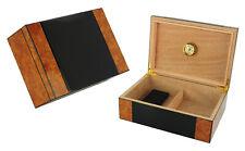 Elegant 50+ CT Count Cigar Humidor Humidifier Wooden Case Box Hygrometer u