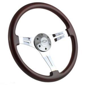 "1964-1965 Chevelle Malibu steering wheel BOWTIE 13 1//2/"" GLOSSY GRIP"