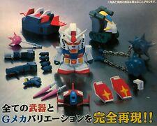 Action-Figur Gundam RX 78 2 Full Weapon Set Super Deformed Japan Banpresto