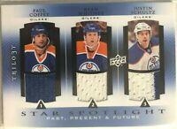 2013-14 Justin Schultz Ryan Whitney Paul Coffey Three Star Jerseys Oilers