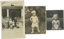 Lot twenty vintage photos Children boy in diaper Military Wedding Muskegon MI