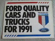 Ford USA Military Sales brochure 1991