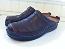 Birkenstock Footprints ASHBY Size 7.5-8/EU 38N Brown Leather Slip On Mules Shoes