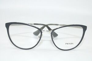 Prada PR55T U6R  MATTE NAVY WITH SILVER  Eyeglasses New Authentic 54