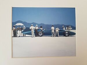 Jack Vettriano Bluebird at Bonneville WHITE Mounted Art Print Special Offer NEW