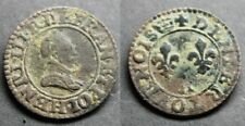 Henri III, Denier tournois, sd A (Paris) couronne