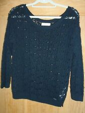 FAB WOMENS NAVY ABERCROMBIE AND FITCH KNIT JUMPER SIZE MEDIUM