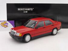 """Minichamps 155037000 # mercedes benz 190e (w201) 1982 año de fabricación en """"rojo"""" 1:18"""