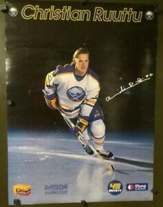 Buffalo Sabres NHL Christian Ruutu Poster Kodak WBEN Tops Markets 1988