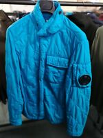 CP Company Garment Dyed Quilted Overshirt Jacket Sky Blue BNWT