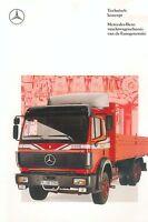 Mercedes vrachtwagenchassis Eurogeneratie LKW NL Prospekt 1989 truck brochure