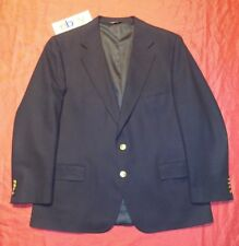 RALPH LAUREN Blue SOFT TOUCH Wool Blazer Jacket w GOLD BUTTONS men 41L EUC !