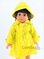 """Yellow Raincoat w Hat for American Girl 15"""" - 18"""" Doll Clothes LOVV THE LOVVBUGG"""