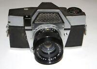 RARE Kiev-10 Soviet SLR USSR 35 mm camera Helios-81 2/50 lens WORKS EXC!