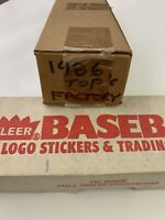 1986 topps And Fleer baseball complete factory sets