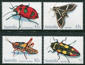 AUSTRALIAN INSECTS 1991 - MNH SET OF FOUR (BL382-RR)