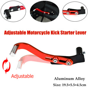 Universal CNC Motorcycle Starting Bar Kick Starter Lever Pedal Gear Lever Adjust