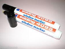 2x Edding 4095 window marker schwarz 2-3 mm feucht abwischbar Fenster-Stift NEU