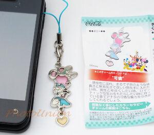 Coca Cola Disney Phone Strap Decoration Charm Keychain Decor Minnie Mouse A174