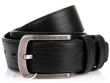 Septwolves Men Belt Real Cow Genuine Leather Pin Lock Buckle Black 27234000-Z