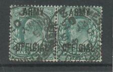 IRELAND GB OFFICIAL ARMY KE7 PAIR..ST JAMES ST DUBLIN 2