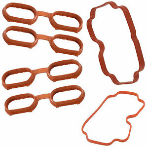 Intake Engine Manifold Cover Gasket Gaskets for BMW 740i 740iL 540i X5 Z8 SET 6