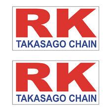 2 Stickers plastifiés RK TAGASAGO CHAIN - 10cm x 5cm