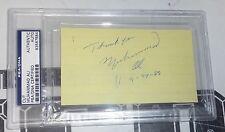 Muhammad Ali Signed 3x5 Cut Paper PSA/DNA COA Boxing Autograph 3 vs Joe Frazier
