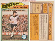 304 DAVID LANGAM # ENGLAND DERBY COUNTY.FC CARD PREMIER LEAGUE TOPPS 1978
