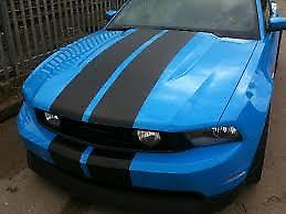 MATT BLACK (A2) Twin Body Stripes Viper Style 4m x 10cm fits ASTON MARTIN
