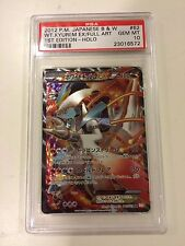 Pokemon PSA 10 GEM MINT White Kyurem EX Full Art Cold Flare 1st ed 062/059 SR BW