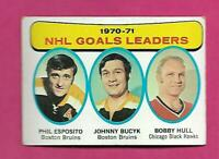 1971-72 TOPPS # 1 ESPOSITO / BUCYK / HULL LEADERS EX  CARD (INV# D7056)
