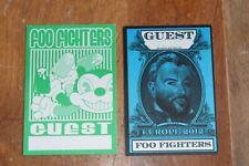 Foo Fighters - 2 x Backstage Pass Unused - - Free Postage -