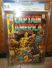 Marvel comics Captain America 133 1971 CGC 9.4 Origin M O D O K Avengers