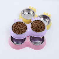 Pet Dog Cat Bowls Stainless Steel Travel Feeding Water Food Dish Puppy Feeder
