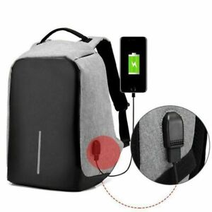 Unisex Anti-Theft Multi-Layer Laptop Travel Backpack with USB Charging Port