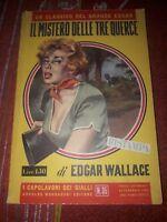 """EDGAR WALLACE """"IL MISTERO DELLE TRE QUERCE"""" 1956 OTTIME CONDIZIONI"""