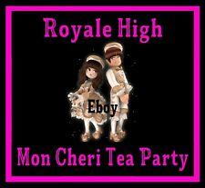 ROBLOX ROYALE HIGH - MON CHERI TEA PARTY SET RH, DIAMONDS *READ DESCRIPTION*