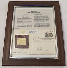 Proof Postage Stamp Framed First Day Issue Sept 7 1984 American Foxhound Dogs