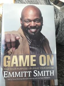Dallas Cowboys Emmitt Smith Signed Game On HC DJ Book JSA COA