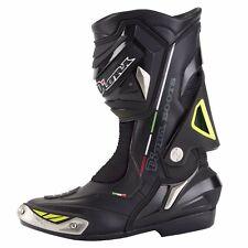 Diora Hornet Waterproof Motorbike BOOTS Motorcycle Sports Racing Black/fluo UK 8